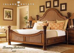 Tommy Bahama Home Island Estate Round Hill Bed - California King Size