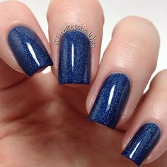 Blue Holo-day Without You- Scattered Holographic Midnight Blue Christmas/Holiday Indie Nail Polish by Noodles Nail Polish on Etsy, $9.00