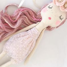 Pink unicorn dress up dolly nearly ready 💗 she can be reserved before she goes live, just DM us or comment if you are interested. (First come first serve, so be quick) Unicorn Doll, Unicorn Dress, Fabric Toys, Doll Maker, Fairy Dolls, Doll Crafts, Cute Dolls, Projects For Kids, Chiffon