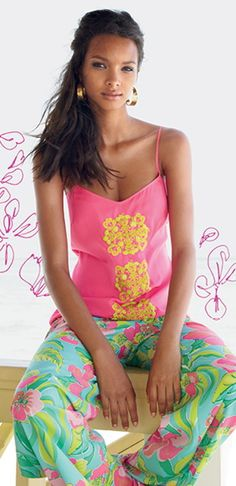 Lilly Pulitzer Resort '13- Rose Top & Middleton Palazzo Pant