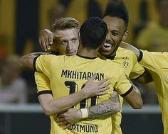 Henrikh Mkhitaryan, Pierre-Emerick Aubameyang, and Marco Reus - Borussia Dortmund