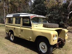 This is my land rover series 3 as is as I purchased it now to start on its restoration