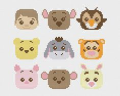 Inside Out Emotions Cross Stitch Pattern PDF by pixelsinstitches
