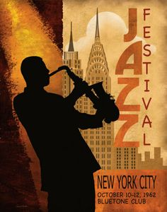 Jazz in New York, 1962 Reproduction d'art