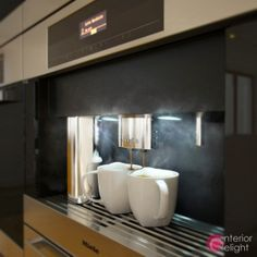 """Picture from """"Some like it. yellow"""" - project by interiordelight. Nothing like a fresh coffee! Fresh Coffee, Design Projects, Interior Design, Mirror, Yellow, Kitchen, Home Decor, Nest Design, Cooking"""