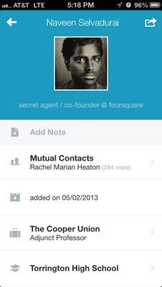 Brewster iPhone user profiles screenshot