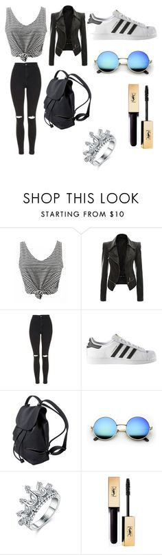 """""""Untitled #230"""" by pauuulis ❤ liked on Polyvore featuring Topshop and adidas"""