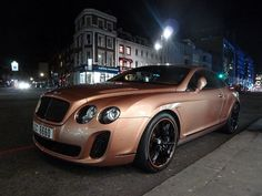 Bentley Continental GT supersport Metal Pink (by StreetcarsL) Posh Cars, Bentley Continental Gt Speed, Dream Car Garage, Bentley Car, Lux Cars, Tuner Cars, Supersport, Jeep Truck, My Ride