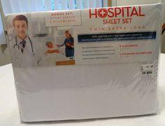 Dorm Hospital White  XL Twin Sheet Sets NIP Lot of 2 Sets Venus 4 Sheets 2 Cases #Venus