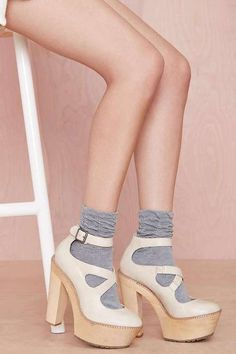 Scrunch Time Socks - Grey