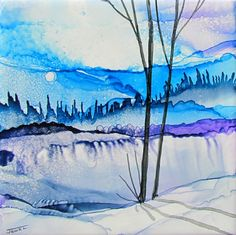 twilight by Jewel-Buhay using alcohol inks