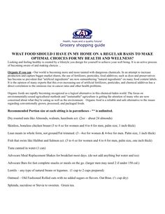shopping guide- advocare - 24 day program