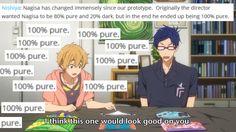 Nagisa: 100% pure?!  yeah...sure....whatever you say ;)