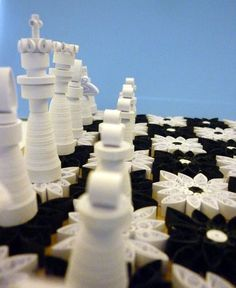 Chess set : 3D Quilling