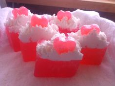 Love Spell, glycerin soaps, with bubble bath topping, from Smokey Valley Homestead Soaps