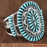 Genuine Sterling Silver and Turquoise Cuff Bracelet