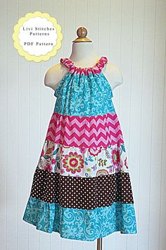 Mary Tiered Dress Sewing Pattern Tiered by livistitchespatterns $6.82 AU