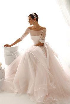 Simple wedding dress is gorgeous, a simple wedding dress and splendor - Stylish