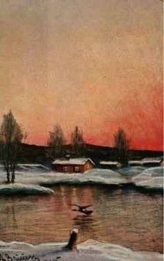 Julekort A.Bruun Utg J.H.Küenholdt brukt 1918