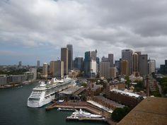 Downtown from the Harbour Bridge pylon, Sydney.