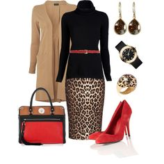 Leopard Print and Red by fashionista88 on Polyvore featuring Inhabit, Jaeger, River Island, DKNY, MARC BY MARC JACOBS, Me&Ro, Faraone Mennella by R.F.M.A.S. and Maison Boinet
