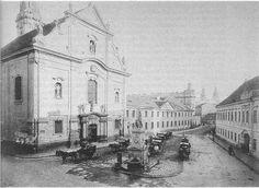 Ferenciek tere az 1870-es években