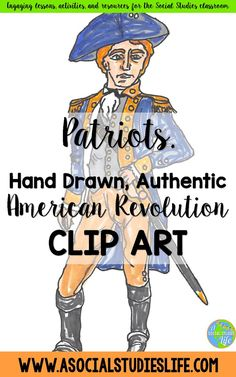 Looking for authentic Social Studies clip art for your middle school and high school students? Hand drawn and authentic! Social Studies Classroom, American Revolutionary War, Art Corner, History Teachers, New Set, High School Students, Revolutionaries, Middle School, How To Draw Hands