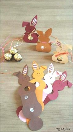 Small gift bags craft ideas for Easter bunnies Projectgardendiy. - Small gift bags craft ideas for Easter bunnies Projectgardendiy. Small gift bags craft ideas for Ea - Bunny Crafts, Easter Crafts For Kids, Fall Crafts, Diy For Kids, Diy And Crafts, Summer Crafts, Nature Crafts, Easter Party, Easter Gift