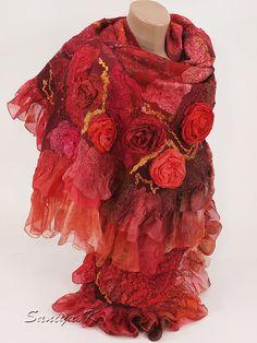"""Купить Сумка & шарф """"Shanty"""" подарок красные - подарок, подарок девушке, подарок женщине"""