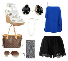 """Untitled #25"" by gracie-mccollough on Polyvore featuring TIBI, Twin-Set, GUESS, Louis Vuitton, Kendra Scott and Ray-Ban"