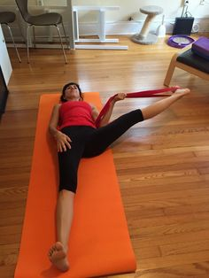 Using a yoga strap to open your hips in five minutes!