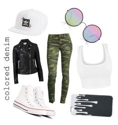 """""""Colored Denim"""" by the-shadow371 on Polyvore featuring adidas, Converse, True Religion, Sunday Somewhere and Witchery"""