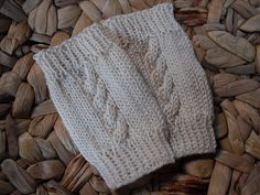 Baby Leg Warmers  Cream White  2 to 6 months  Warm by kerendesign, $10.00