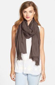 Women's Nordstrom Cashmere & Silk Wrap - Brown