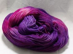 Hand Dyed Sock Yarn in Princess 2.0 by dragonflydyeworks on Etsy.