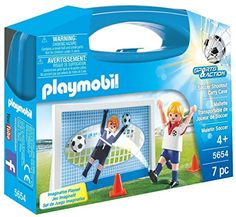 PLAYMOBIL Soccer Shootout Carry Case * Click image to review more details.(It is Amazon affiliate link) #onlineshopping
