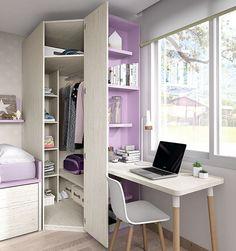 Stunning 36 Elegant Small Kids Room Design Ideas With Smart Saving Space. Small Room Design, Kids Room Design, Home Room Design, House Design, Kids Bedroom Furniture, Bedroom Decor, Furniture Design, Furniture Ideas, Corner Wardrobe