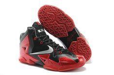 premium selection 6b8bb 1a8b4 Authentic Black Metallic Silver-University Red-Bright Crimson Womens Nike  LeBron 11 For Christmas