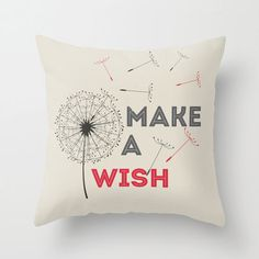 Make a wish 18x18 Decorative throw pillows by MonochromeStudio, $40.00