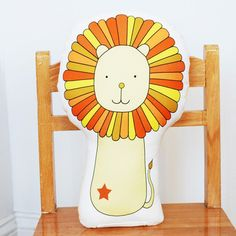Lion Pillow now featured on Fab.