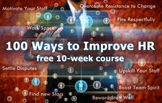100 WAYS TO IMPROVE HR | FREE 10 WEEK COURSE | PEOPLE HR