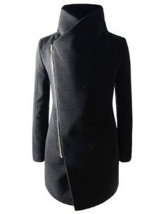 Asymmetric Terry Coat. A little mysterious, a little chic.