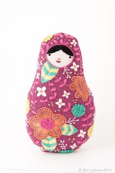 New Matryoshka Kit! Available on Etsy #embroidery #diy #nestingdoll #kukla #babushka #matryoshka #diykit #plushie