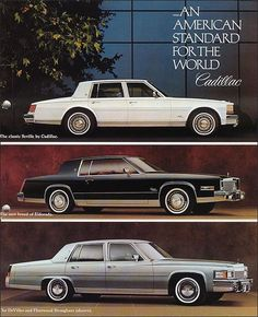 1979 Cadillacs. In a world of round, curvy molded-plastic cars, sharp angular design can be refreshing.
