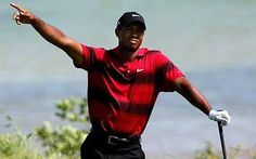 Tiger Woods fore right!
