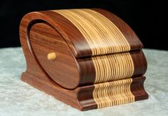 Stylish Wooden Keepsake / Jewelry Bandsaw Box