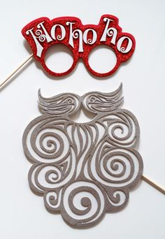 """Items similar to Christmas Party Photo Booth Party Props ,Nutcracker, Santa Claus beard whit Glasses """"Ho Ho Ho"""" on Etsy Christmas Photo Booth Props, Photo Booth Party Props, Christmas Photos, Reindeer Antlers, Crochet Earrings, Santa, Party Ideas, Etsy, Glasses"""