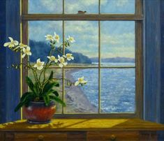 Beach View, Orchids by Randy Van Beek