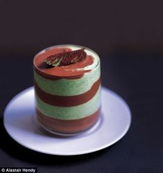Recipe: Layered mint and mocha syllabub - England Sweet Meals Fruit Fool, English Trifle, Figgy Pudding, Bread And Butter Pudding, Sticky Toffee Pudding, Banoffee Pie, Dessert Recipes, Desserts, Recipes