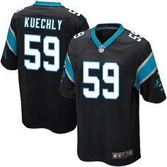 4a39f52f9 Nike Elite Luke Kuechly Black Youth Jersey - Carolina Panthers NFL Home